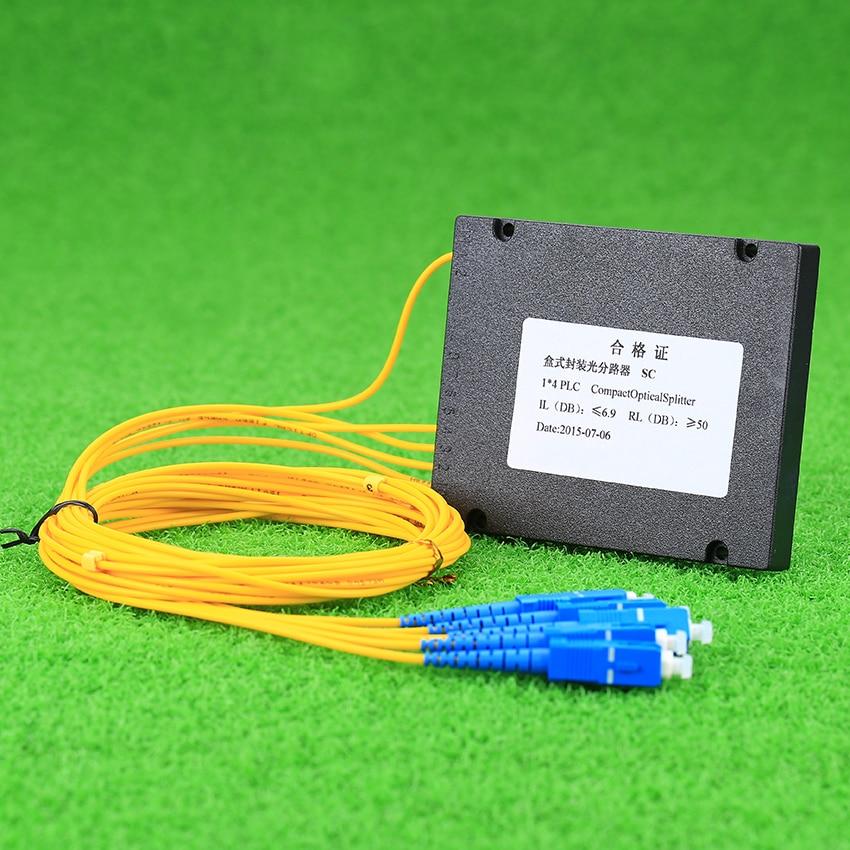 Image 3 - KELUSHI NEW 1x4 Telecom PLC Cassette SC Compact Optical Splitter Planar Waveguide Fiber Optical Branching Device-in Fiber Optic Equipments from Cellphones & Telecommunications