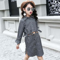 Little Teenage Girls Clothing Sets Autumn Boutique Striped Kids Girls Clothes 2017 Set 7 8 10