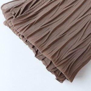 Image 4 - 教徒ヘッドスカーフしわソリッドカラー品質スカーフの女性の綿のしわラップバブルショール