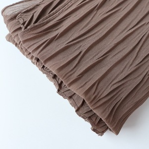 Image 4 - Long Scarf Muslim Headscarf Headband Wrinkles Solid Color Quality Scarf Solid Color Womens Cotton Wrinkles Wrap Bubble Shawl