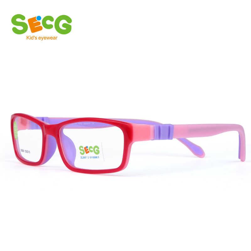 SECG Vuông Có Thể Tháo Rời Optiacal trẻ em Khung Cảnh Tượng Childrne Khung Cận Thị Hyperopia Oculos Kính Theo Toa Không Vít