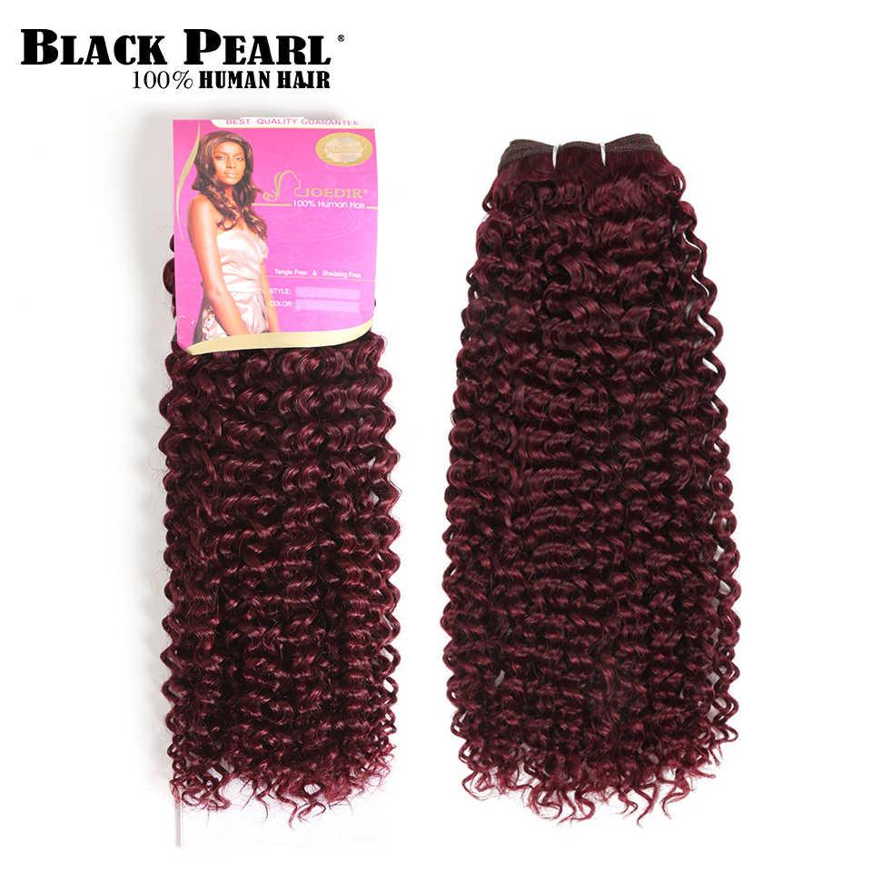 Черные жемчужные предварительно цветные винно-красные монгольские вьющиеся волосы плетение человеческих волос пучки 1 шт. афро кудрявые вьющиеся волосы для наращивания 99j