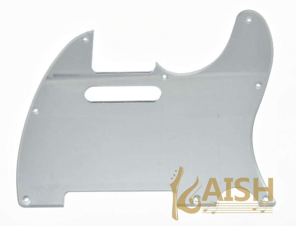 TL Guitar Pick Guard Scratch Plate Silver Mirror