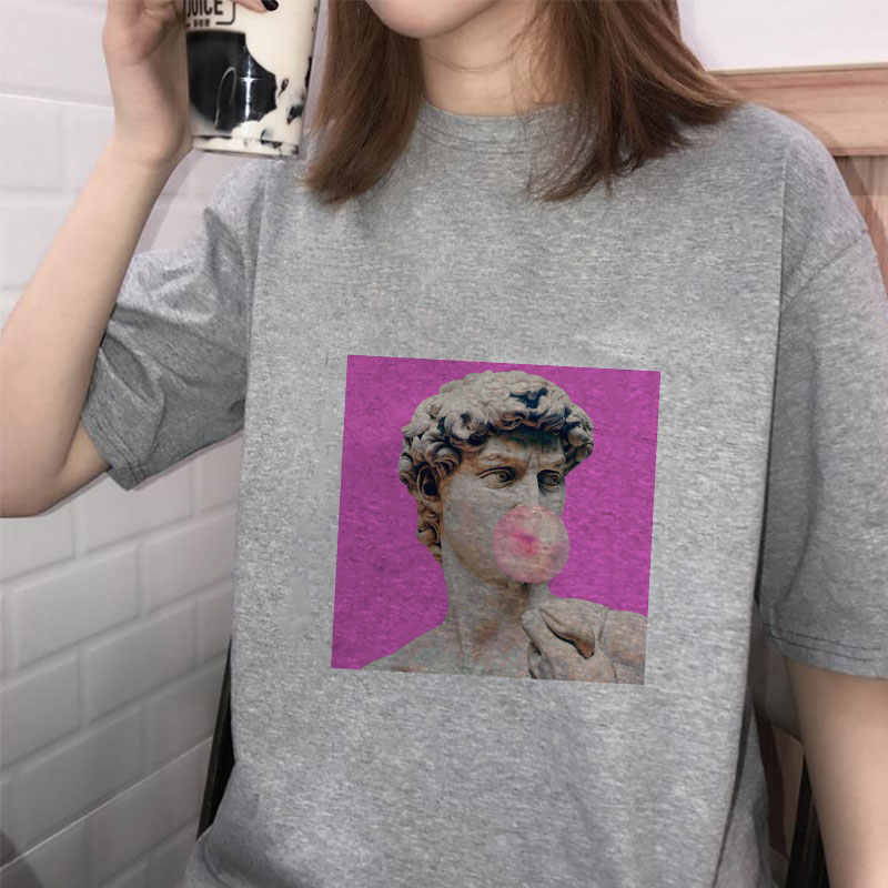 66b46087ae7b4 Fashion Women Shirt Ulzzang Funny Pulp Fiction Aesthetic Clothes Vogue  Tumblr Graphic Tee Summer 2019 Women T-shirt Plus Size