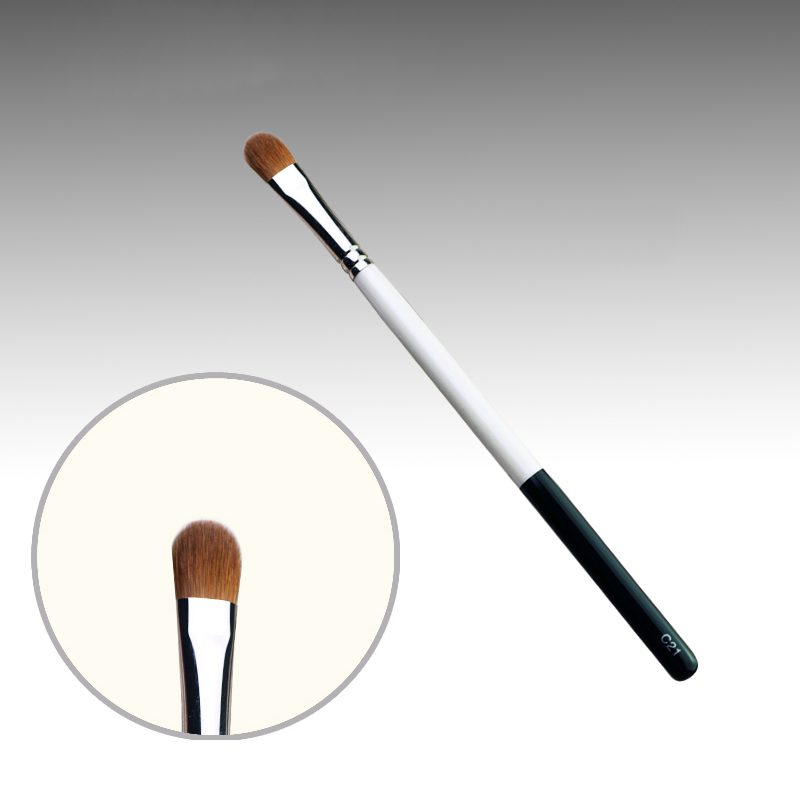 C21 Professional Makeup Brushes Weasel Hair Eye Shadow Brush White Black Handle Cosmetic Tools Eye Shader Make Up Brush 7e08 professional makeup brushes weasel hair eye shadow blending brush black handle cosmetic tools smoky eye make up brush