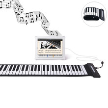 New Arrival Silicone Flexible font b Keyboard b font MIDI Roll up Electronic Piano USB 88