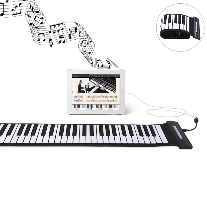 Nouveauté Silicone Flexible clavier MIDI retrousser électronique Piano USB 88 clés Instruments de musique jouets de musique cadeau!