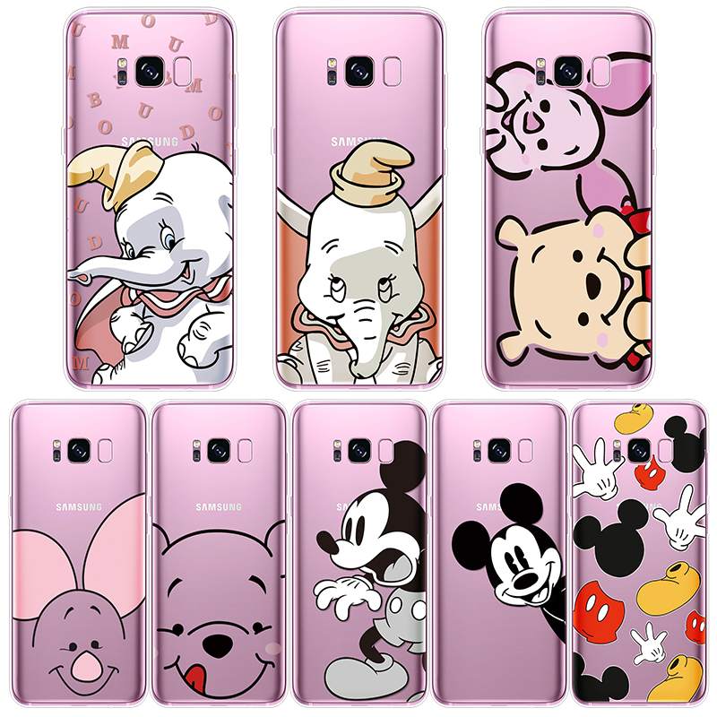 Cute Dumbo Cover For Samsung Galaxy Note 8 9 3 4 5 S10e S10 A60 J4 J6 Plus J2 Pro J5 J7 Prime 2015 J3 J8 2018 2017 2016 TPU Case