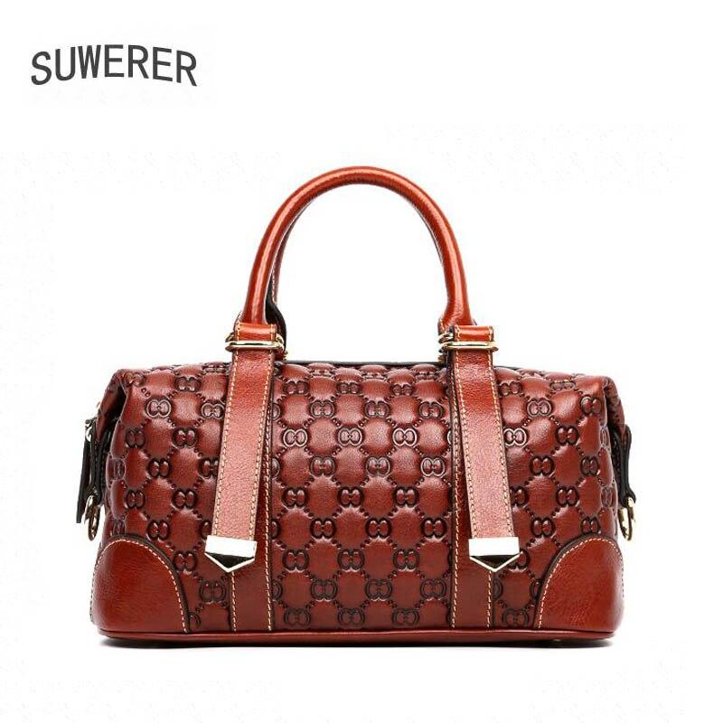 SUWERER 2019 fashion lenuine leather women bags for women luxury handbags women bags designer bags handbags women famous brands