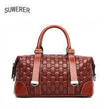 SUWERER 2019 fashion lenuine leather women bags for luxury handbags designer famous brands