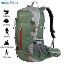 WissBlue 40L Hosszú vándorló túracipő Unisex Utazás Kemping Kültéri túrázás Kerékpározás Sport hátizsák férfiaknak és nőknek