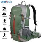 Wissblue Waterproof Travel Hiking Backpack 40L Sports Bag Mountaineering Rucksack Shoulders Bag Climbing Backpack Outdoor Travel