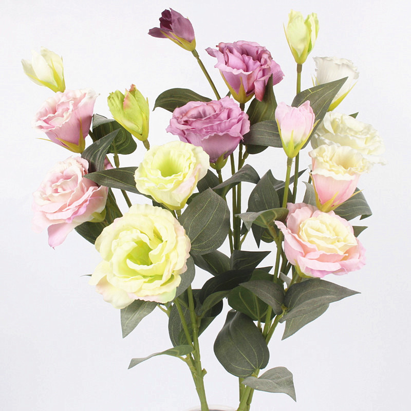 Artificial 3 Heads Bouquet silk flower bunches Daisy Silk Flower Fake Flowers Leaves for Home Garden Party Decor Flores