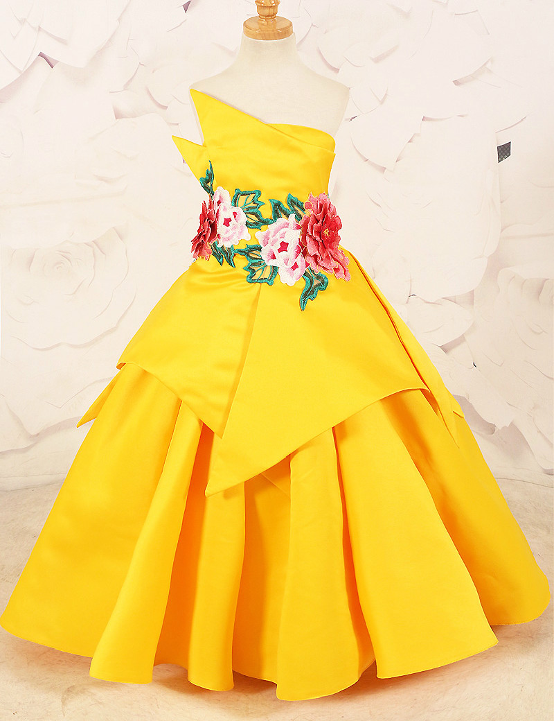 gown for kids yellow wwwimgkidcom the image kid has it