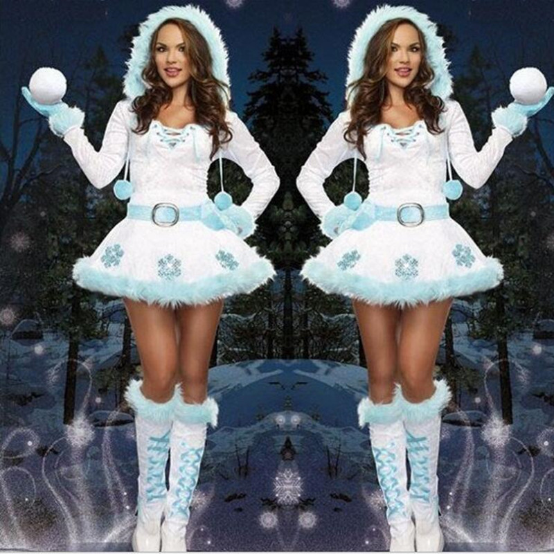 Luxury Sexy Dreamy Snow Maiden Christmas Princess Costumes Women Adult Santa Claus Costumes Christmas Party Fancy Dress Bracing Up The Whole System And Strengthening It