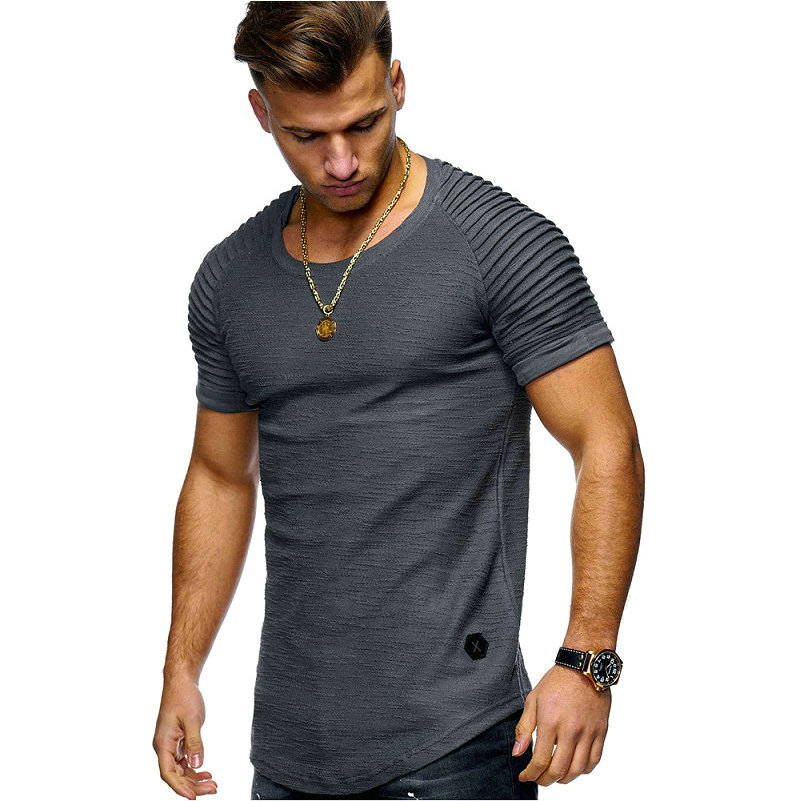 HTB1wF9bd8aE3KVjSZLeq6xsSFXaV Hot Selling Summer Short Sleeve Men T Shirt Cotton Blended Solid Mens T shirt Casual Slim Tee Shirt Homme
