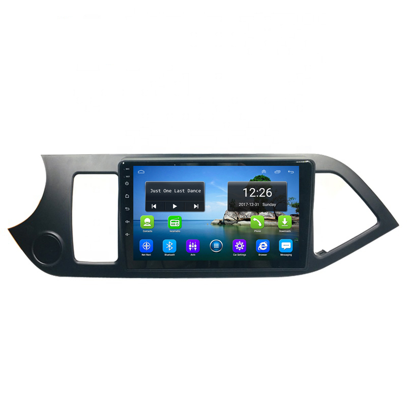 Android 4G LTE HD 1080P car MP3 MP4 Music 4 core 2GB DDR3 free map  for KIa picanto morning left driving 9inch