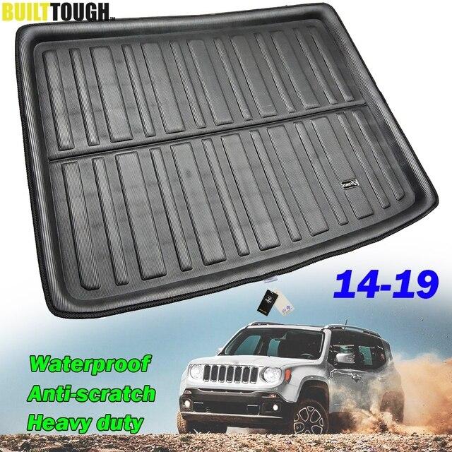 Jeep Renegade için BU özel 2014 2015 2016 2017 2018 2019 arka gövde Boot astar kargo Mat bagaj tepsisi zemin halısı koruyucu
