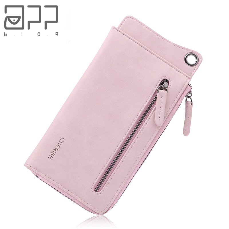 APP BLOG Luxury Brand Female Womens Wallet Long Fashion Clutch Leather Coin Purse Phone Key Card Holder Bag With Strap