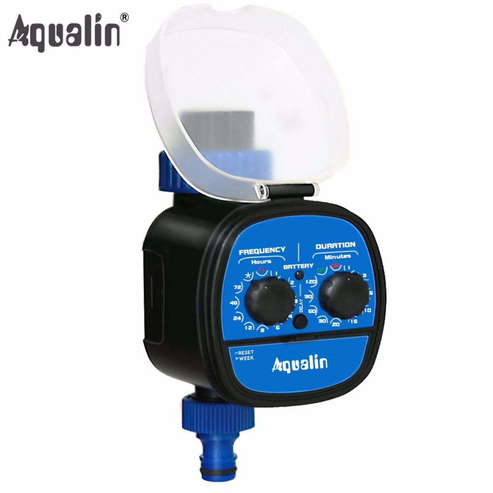 उच्च शक्ति निविड़ अंधकार गेंद वाल्व इलेक्ट्रॉनिक स्वचालित पानी टाइमर गार्डन होम सिंचाई प्रणाली देरी समारोह # 21049