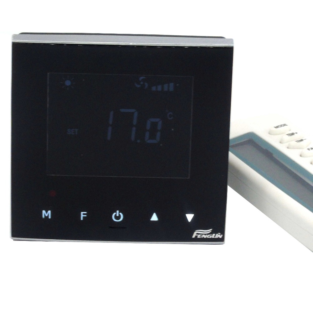 Infrared remote Touch cooling heating Thermostat with Fan Coil app universal remote thermostat fan coil with 2p 4p