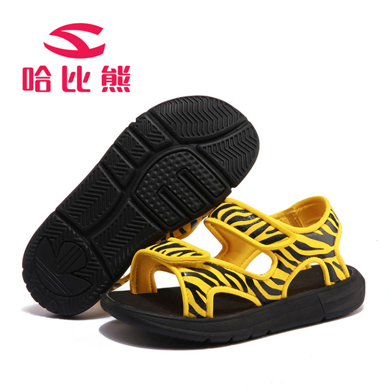 35bfbb8e94545e Children Sandals Summer Boys and Girls Open Toe Breathable Light Printing  Non Slip Shoes Flats Cut Out Kids Girls Beach Sandals