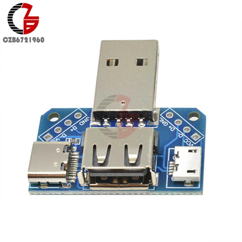 5 V USB رئيس لوحة مفاتيح USB الذكور إلى الإناث إلى نوع-c إلى المصغّر USB إلى 2.54 مللي متر 4 P USB محول محول موصل وحدة XY-USB4