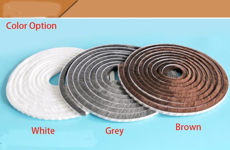 10meters/lot  Self-adhesive Door Window Seal Tape Windproof Warm Soundproof Sealing Strip Furniture Wardrobe Accessories Banding