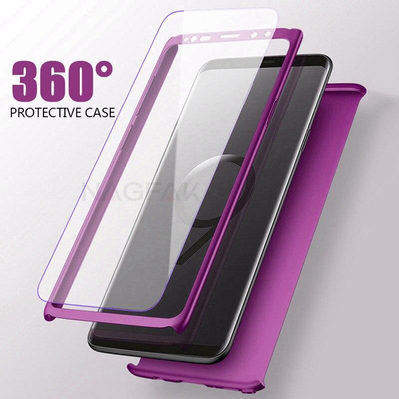 360 grad Volle Abdeckung Fall Für Samsung Galaxy S9 S8 Plus Telefon Fällen Für Samsung Note8 S9 S8 Schutzhülle mit Weichen Film