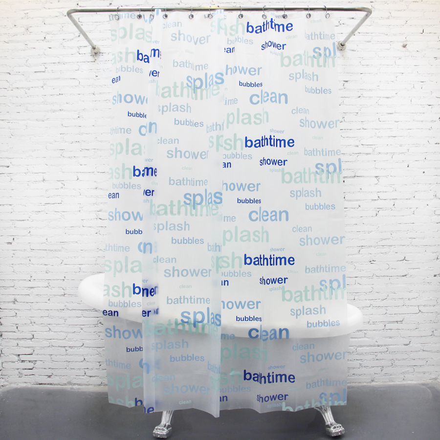 EVA waterproof mouldproof thickening shower curtain little fresh blue toilet curtain bath time shower curtains