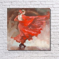 Spain dancing lday canvas oil painting top quality wall art canvas sex oil painting spain nation dance picture
