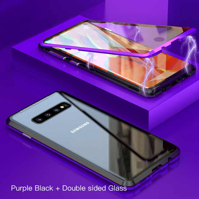 Полный Магнитный чехол для Samsung Galaxy S8 S9 S10 Plus S10e передняя задняя двойная стеклянная крышка чехол Note10 Note 8 9 Note10 Plus