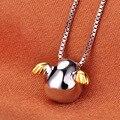 Стерлингового Серебра 925 Ангел Яйцо Ожерелья & Подвески Для Женщин Милые Девушки Предотвратить Аллергии Стерлингов-серебро-ювелирные изделия