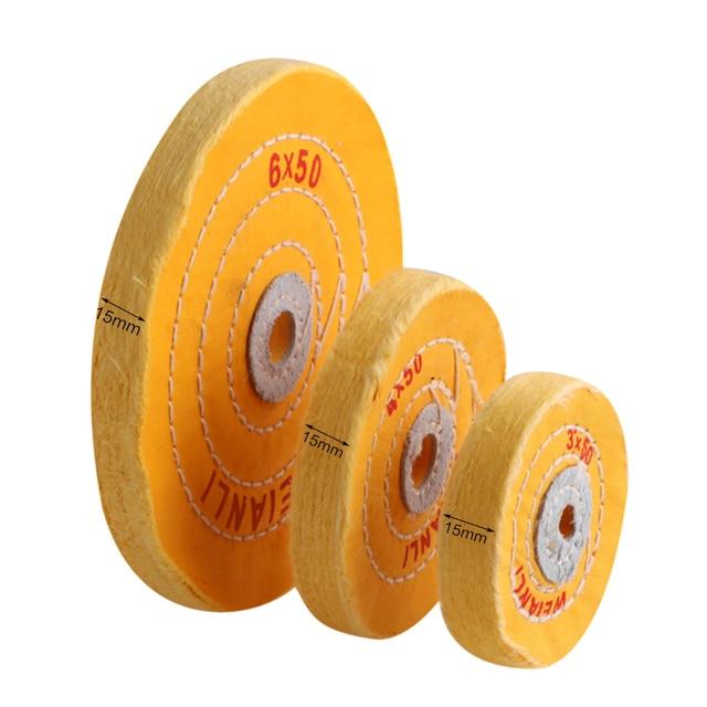 "1PC Cotton Polishing Wheels  3""/4""/6"" Cloth Buffing Wheel Grinder For Jewelry Wood Metal Polishing Abrasive Tools"