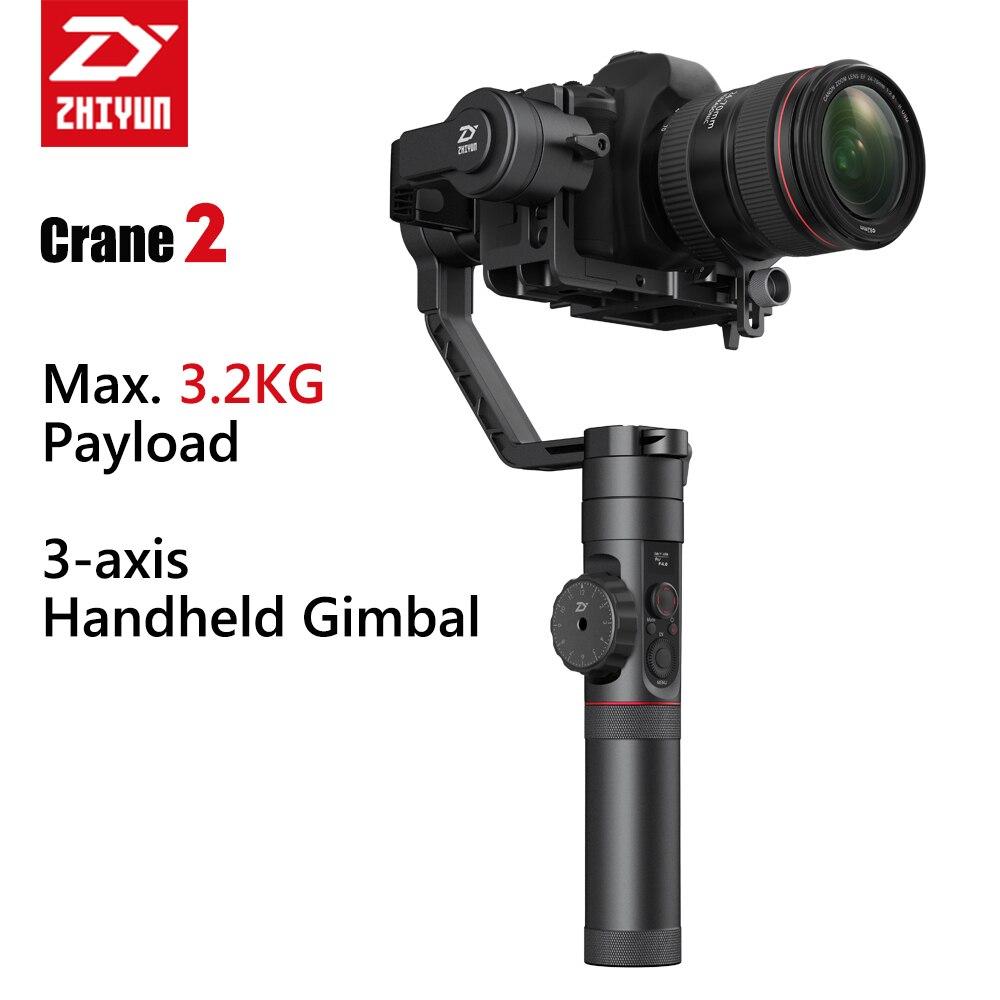Zhiyun Crane 2 stabilisateur de cardan portatif stabilisateur de caméra vidéo 3 axes avec fonction de mise au point pour DSLR