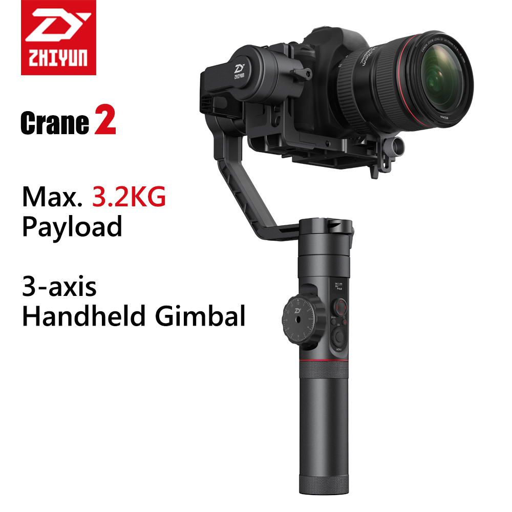 Zhiyun Crane 2 Handheld Gimbal Stabilizer 3 axis Video Camera Stabilizer with Follow Focus Function for DSLR цена
