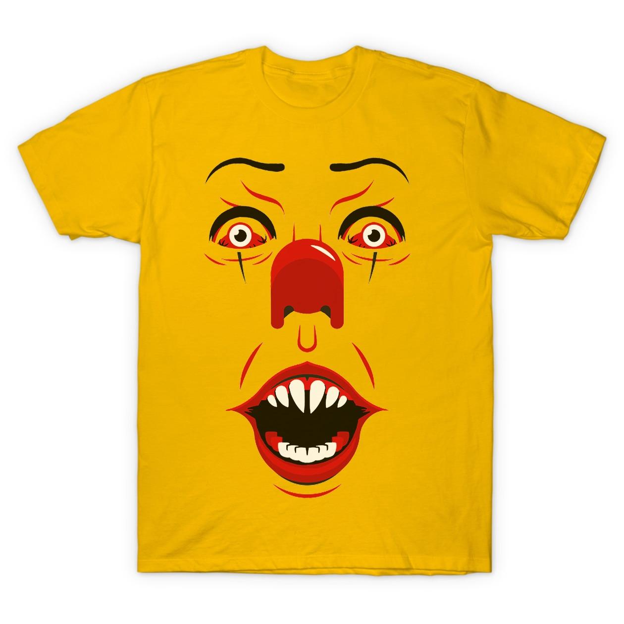 Stephen Kings It Pennywise Summer Short Sleeve Tee T-shirt Men's Clothing