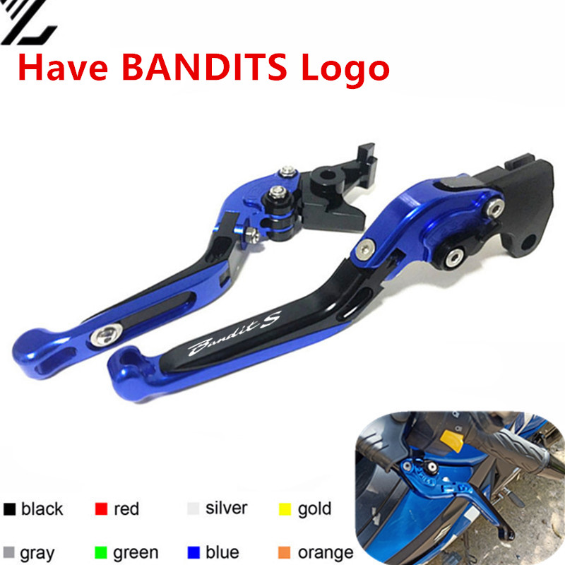 For SUZUKI <font><b>GSF</b></font> <font><b>650</b></font> Bandit 2005 2006 <font><b>GSF</b></font> 600 S Bandit 1996-2003 Adjustable Folding Extendable Motorcycle Brake Clutch Levers image