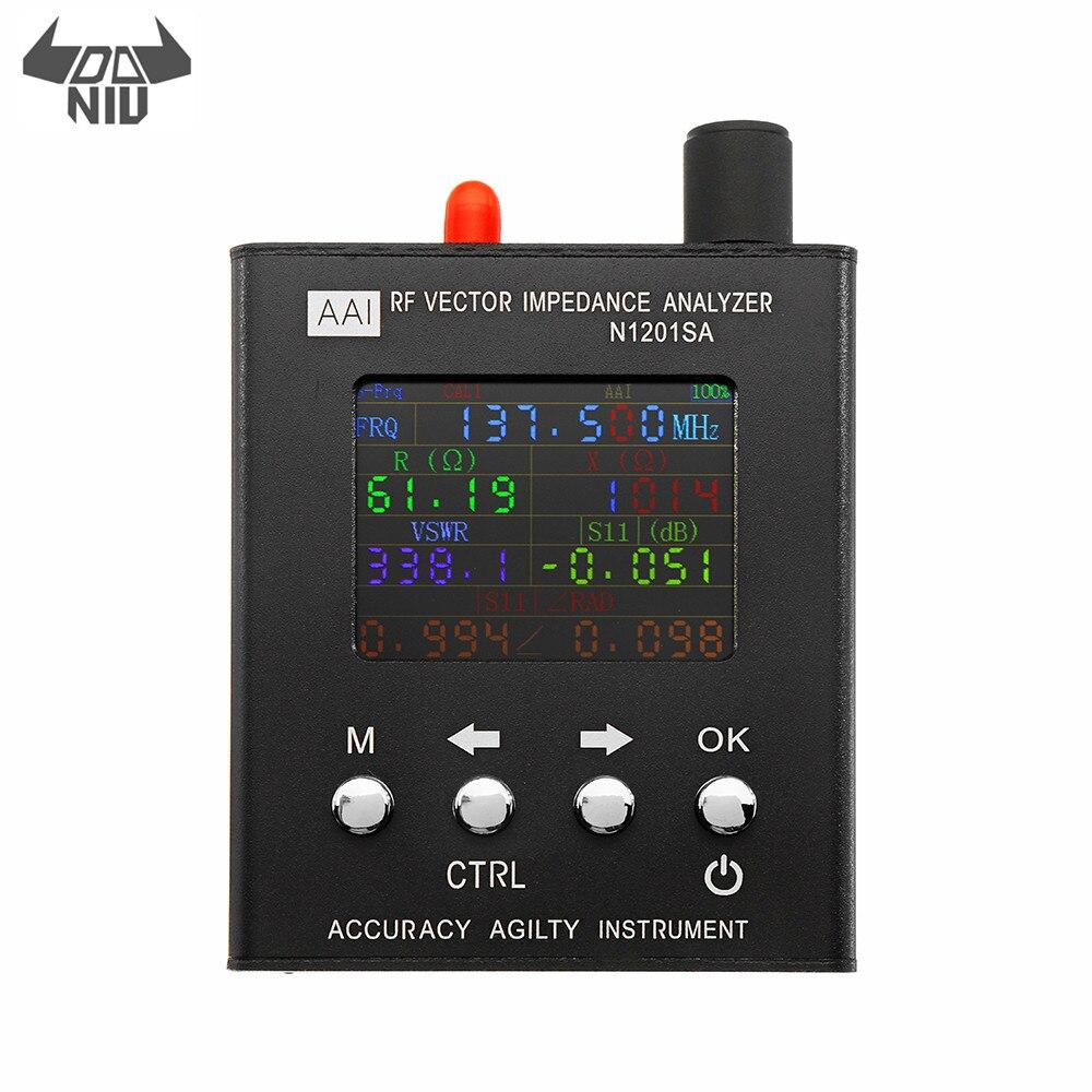 DANIU English Verison N1201SA 140MHz 2 7GHz UV RF Vector Impedance ANT SWR Antenna Analyzer Meter