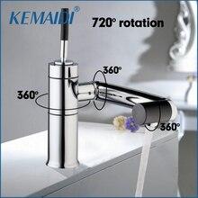 Kemaidi специальный новый кухонной мойки Поворотный 360 Термометры Chrome Нажмите бассейна двухслойные torneira Cozinha смеситель 92420A/5