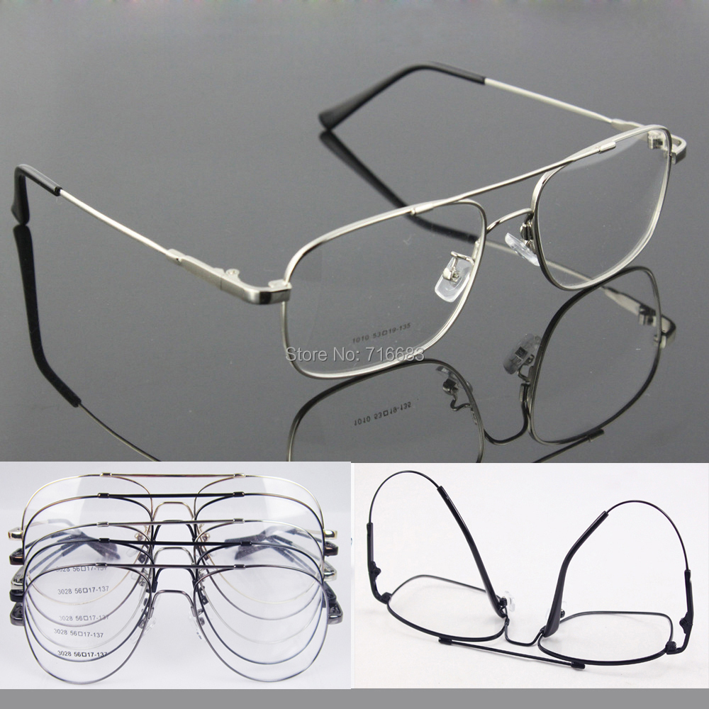 b8ce65e6c83 Memory Titanium Flexible Full flex Large Size   Small size Aviation Optical Eyeglass  Frame For sunglasses Spectacles Eyewear Rx-in Eyewear Frames from ...