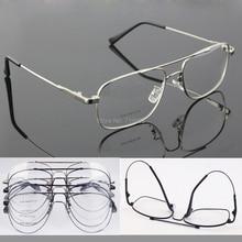 Memory Titanium Flexible Full flex Large Size & Small size Aviator Optical Eyeglass Frame For sunglasses Spectacles Eyewear Rx