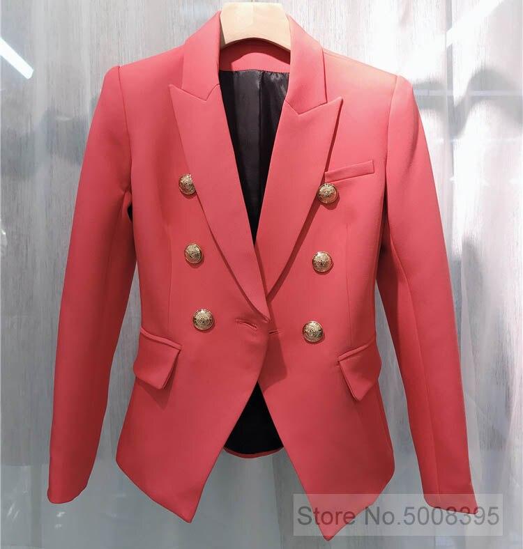 ¡WISHBOP de alta calidad! Sandía Blazer de doble botonadura dorado 6 botones de manga larga almohadillas de hombro 2019ss mujer Blazers-in chaqueta de deporte from Ropa de mujer    1