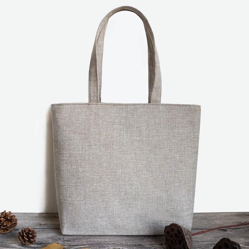 Art et Art simple Loisirs simple Ministère de grande capacité coton et toile de lin sacs de poche une épaule femmes