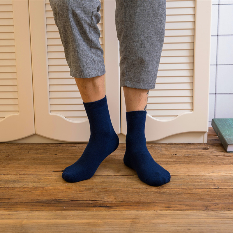 1 Pair Winter   Socks   High Quality Men's Cotton Breathable   Sock   Thicken Towel Hemming Keep Warm Male Thick Thermal   Sock   Calcetines