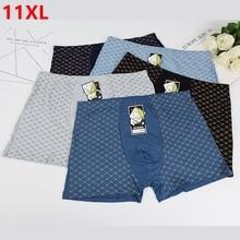 5 pieces / lot  Extra large plus size increase oversize pants mens boyshort underwear big size 11XL 9XL four corner boxer