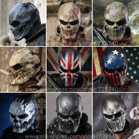 9 Style Typhon Ghost Camo Tactical Military Full Face Mask WarGame Paintball Balaclava Airsoft Skull Helmet Protection Helmet