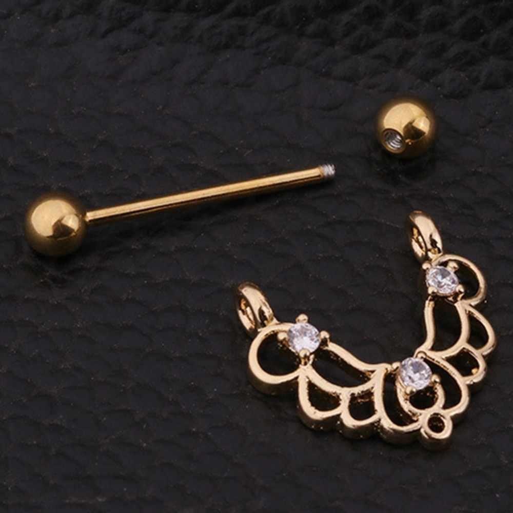 Fashion Stainless Steel Rose Gold Colors U Shaped Oval Water Drop Silver  Sexy Nipple Piercing Women a8cb437aea85