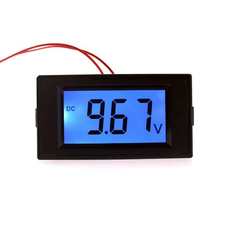 Digital LCD Voltmeter Voltmetro DC 7.50-19.9V 30V Voltage Panel Meter Car Monitors Display Blue Backlight