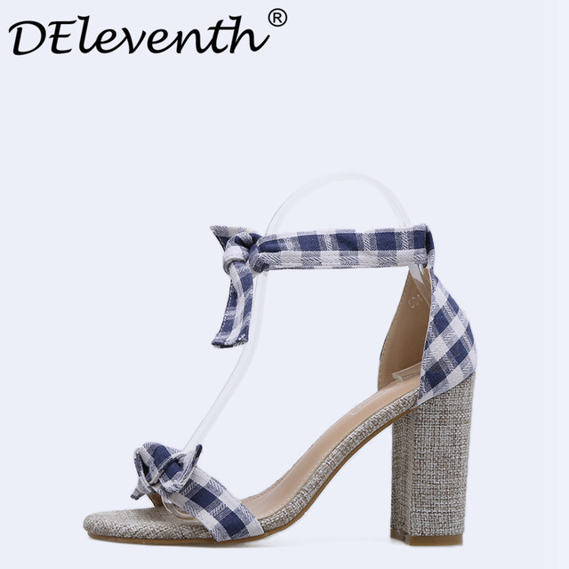 bad2345e77 Europa moda elegante zapatos de mujer peep toe nudo mariposa Tacón cuadrado tacones  altos Sandalias Zapatos